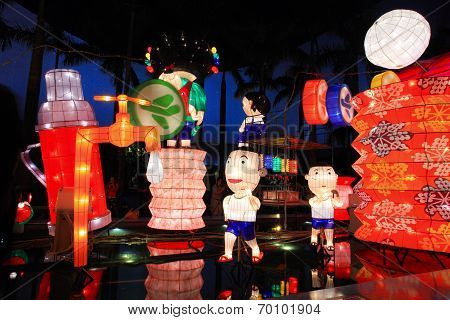 Chinese cartoon lanterns