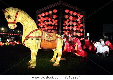 horse lanterns for moon festival