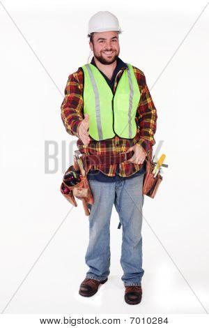 Construction Worker Handshake