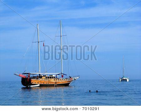 Catamaran And Gulet