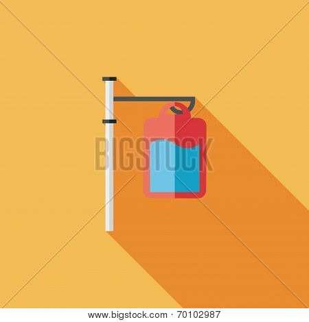 Iv Bag Flat Style Icon With Long Shadows