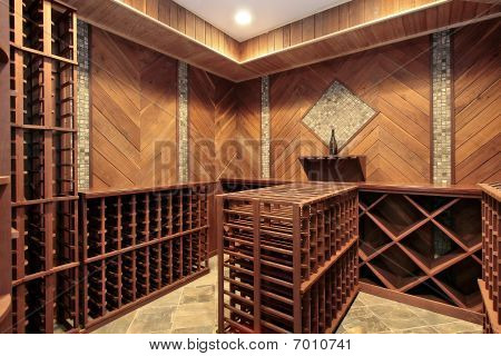 Wine Cellar With Multiple Racks