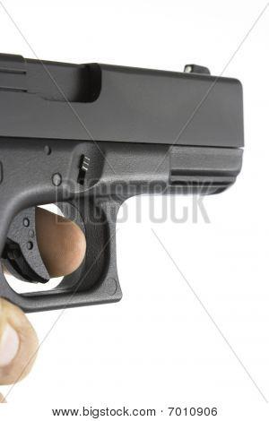 Handgun Being Aimed