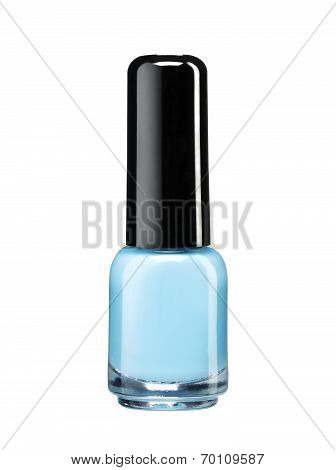 Blue nail polish lacquer