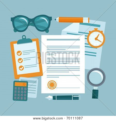 Vector Business Concept In Flat Style