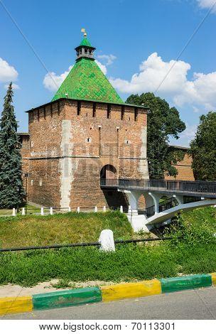Russia, Nizhny Novgorod: Rectangular Nicholas Tower Of Nizhny Novgorod Kremlin