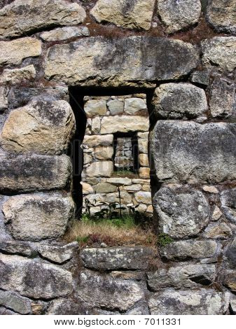 Machu Picchu stone window