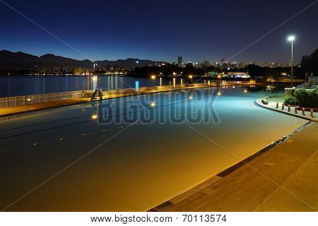 Kitsilano Pool Twilight Dawn, Vancouver