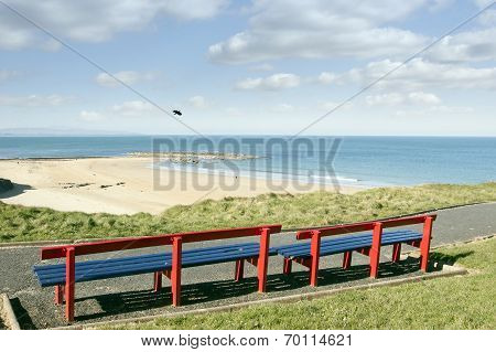 Benches With Views Of Ballybunion Beach And Coast