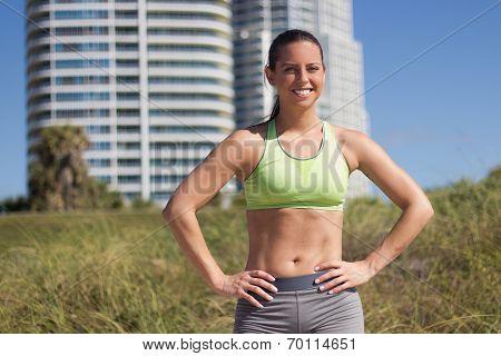 Confident, Fit Hispanic Woman