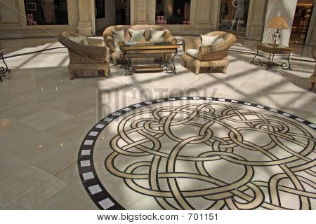 Interior With An Ornament On A Floor