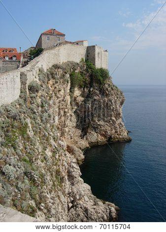 Walls Surrounding Dubrovnik Old Town