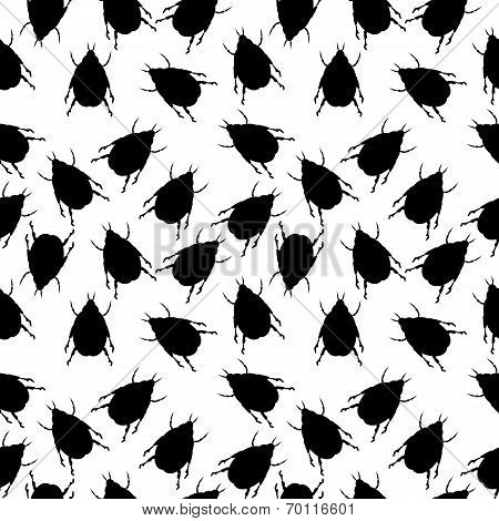 Beetles Seamless Pattern