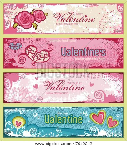 Valentines banners