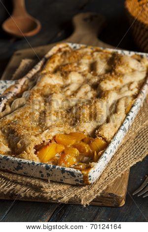 Homemade Flakey Peach Cobbler