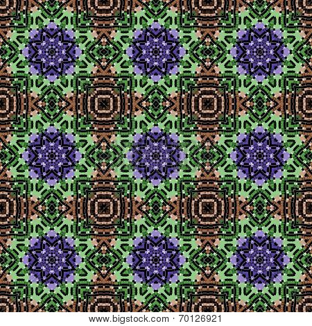 Seamless geometric pattern in a motley colors