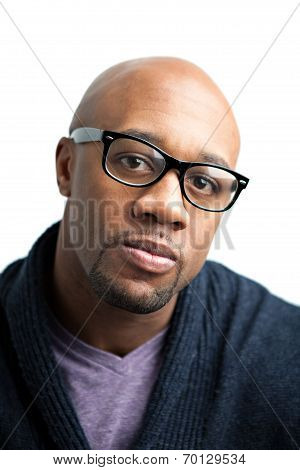 Serious Man With Glasses
