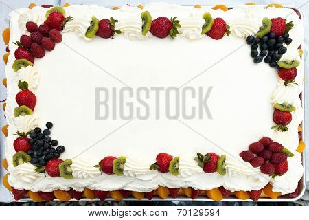 Blank Cake With Fruit