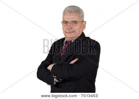 portrait of a caucasian senior manager