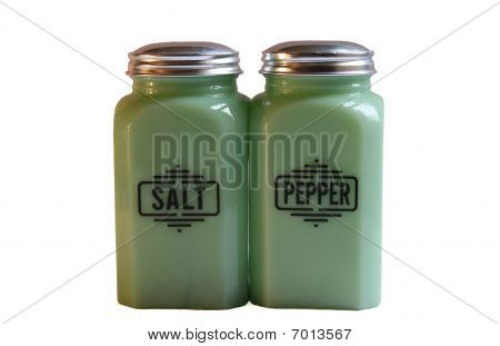 Isolated Salt and Pepper Shakers