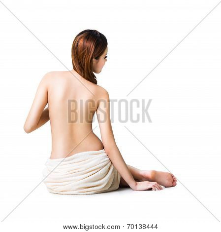Asian Woman In Towel