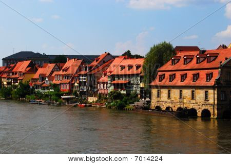 Bamberg pier and embankment