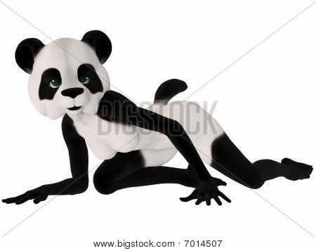 Cute Toon Figure - Panda Bear