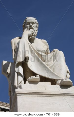 Statue Of Socrates In Athens