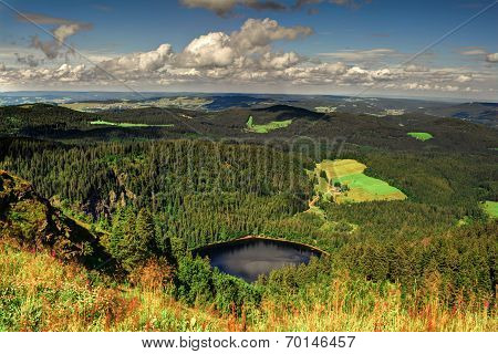 Panorama Landscape View Over Black Forest Germany