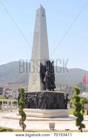War Memorial, Fethiye in Turkey