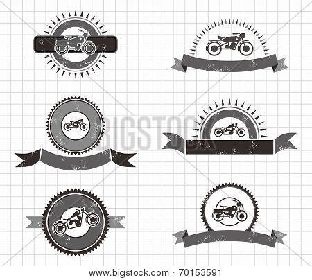 Chopper Motorcycle Label