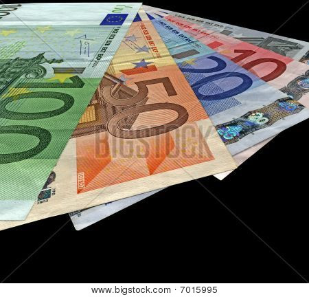 New Colorful Euro Isolated, Savings Wealth, Texture