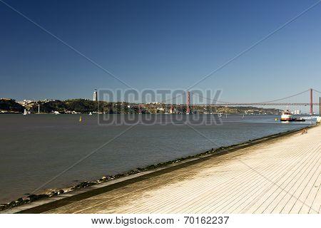River Tagus In Lisbon