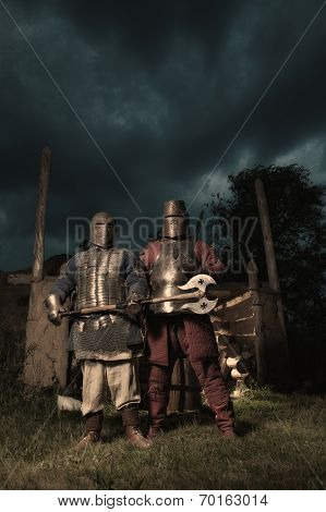 Squad Of Two Medieval Knights