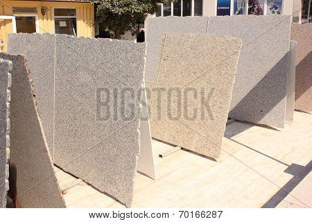 Slabs of marble