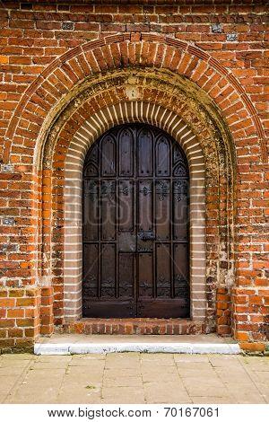 Old Door Of Medieval Cistercian Monastery In Kolbacz, Poland