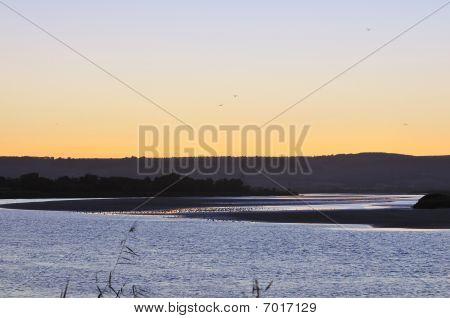 River Severn after sunset