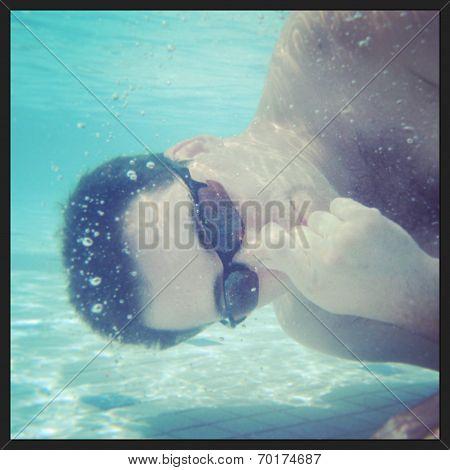 instagram of man underwater