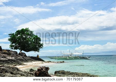 beautiful landscape of peaceful remote island