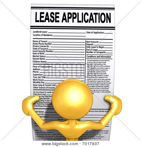Gold Guy Reading Lease Applications