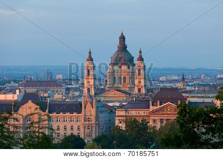 Budapest view of Sacred Stephane's basilica