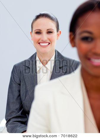 Portrait Of Two Ambitious  Businesswomen