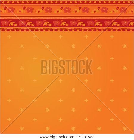 Orange indian sari background