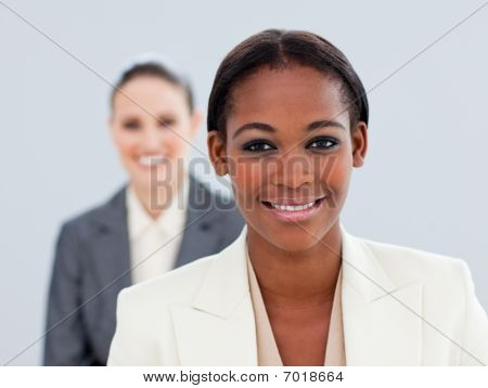 Portrait Of Two Charming Businesswomen