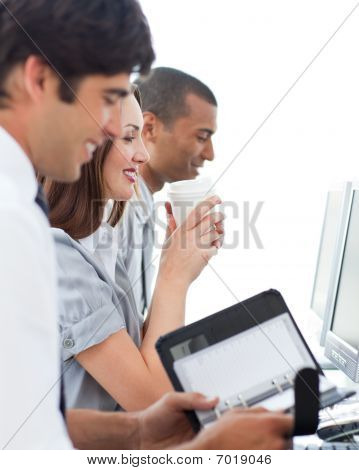 Positive Business Team At Work
