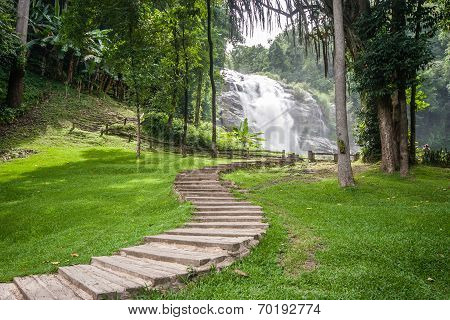 Pathway To View The Waterfall