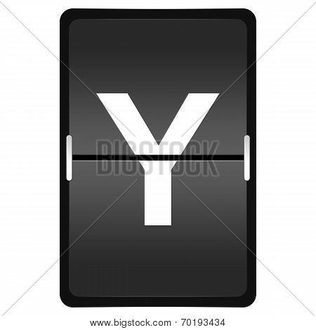 Flipboard Letter Y From A Series Of Airport Timetable