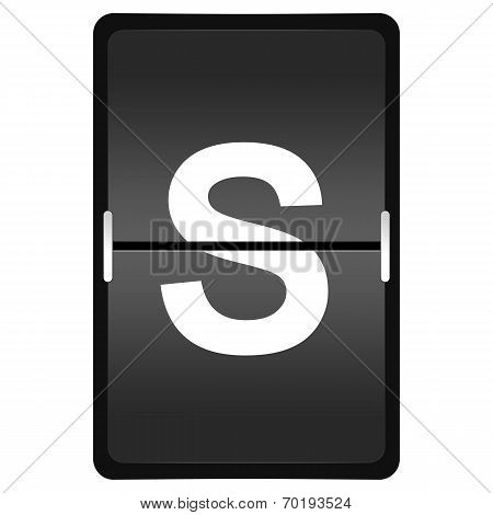 Flipboard Letter S From A Series Of Airport Timetable
