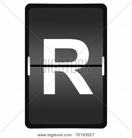 Flipboard Letter R From A Series Of Airport Timetable