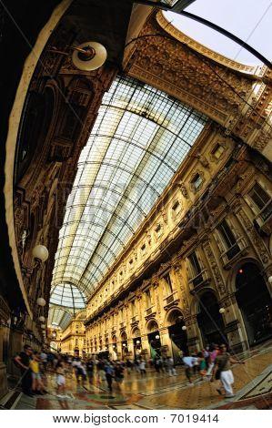 Galleria Vittorio Emanuele Ii, Arcade, Milan, Lombardy, Italy